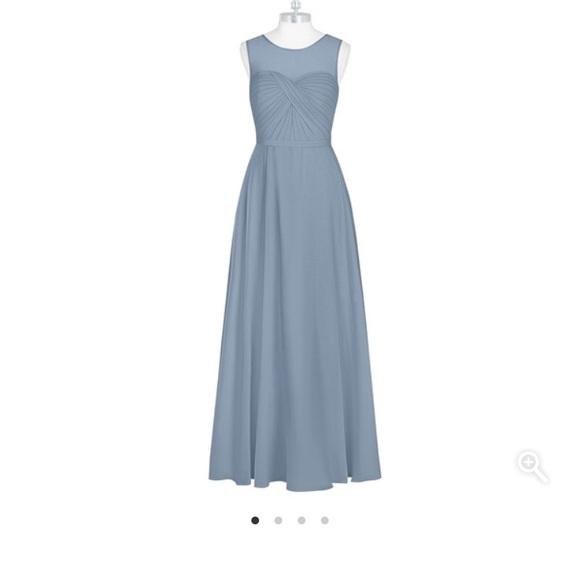 a566c435f87 Azazie Justine Bridesmaid Dress in Dusty Blue